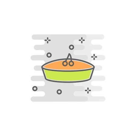 pie color icon. Element of Happy Thanksgiving Day illustration. Premium quality graphic design icon. Signs and symbols collection icon for websites, web design, mobile app on white background