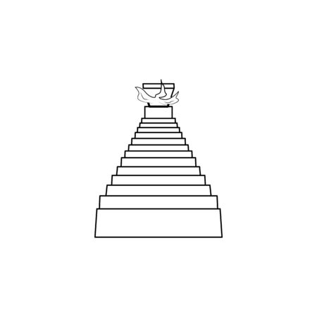 scale per l'inferno icona. Scale nella nostra vita Icona. Design grafico di alta qualità. Segni, raccolta di simboli, icona semplice per siti Web, web design, app mobile su sfondo bianco