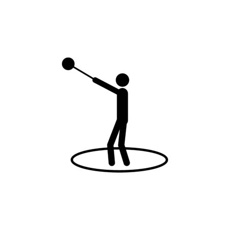 throwing ball sports icon. Element of sport icon. Premium quality graphic design icon. Signs and symbols collection icon for websites, web design, mobile app on white background