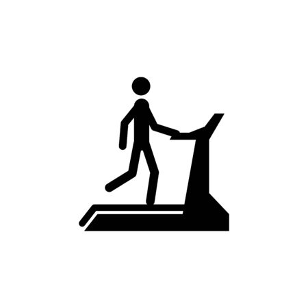 man on the treadmill icon. Element of sport icon. Premium quality graphic design icon. Signs and symbols collection icon for websites, web design, mobile app on white background