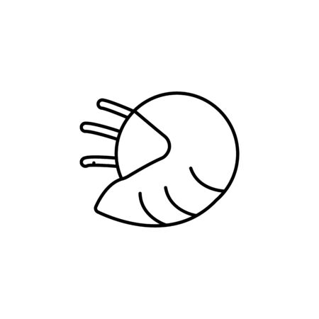 Seafood, shellfish icon. Detailed set of sea foods illustrations. Element of asian cuisine illustration. One of the collection icons for websites, web design, mobile app on white background 写真素材 - 134478929