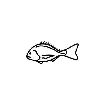 Seafood, cod icon. Detailed set of sea foods illustrations. Element of asian cuisine illustration. One of the collection icons for websites, web design, mobile app on white background