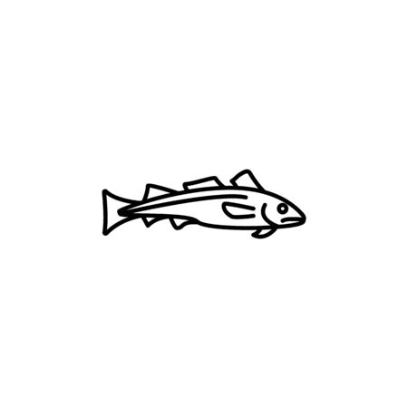 Seafood, dorado icon. Detailed set of sea foods illustrations. Element of asian cuisine illustration. One of the collection icons for websites, web design, mobile app on white background 写真素材 - 134478998