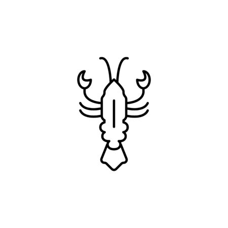 Seafood, lobster icon. Detailed set of sea foods illustrations. Element of asian cuisine illustration. One of the collection icons for websites, web design, mobile app on white background