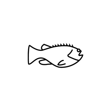 Seafood, mackerel icon. Detailed set of sea foods illustrations. Element of asian cuisine illustration. One of the collection icons for websites, web design, mobile app on white background