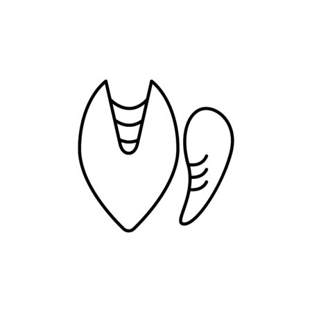 Seafood, mussels icon. Detailed set of sea foods illustrations. Element of asian cuisine illustration. One of the collection icons for websites, web design, mobile app on white background  イラスト・ベクター素材