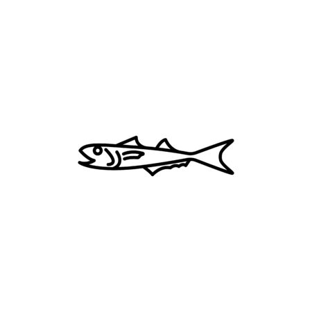 Seafood, sea bass icon. Detailed set of sea foods illustrations. Element of asian cuisine illustration. One of the collection icons for websites, web design, mobile app on white background