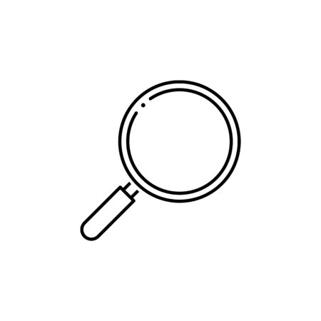 magnifier icon. Element of science illustration. Thin line illustration for website design and development, app development. Premium outline icon on white background