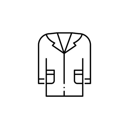 medical gown icon. Element of science illustration. Thin line illustration for website design and development, app development. Premium outline icon on white background Zdjęcie Seryjne - 134479302