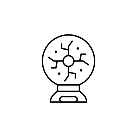 plasma icon. Element of science illustration. Thin line illustration for website design and development, app development. Premium outline icon on white background