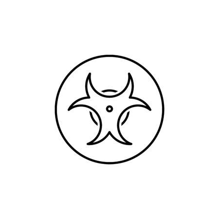 biological hazard icon. Element of science illustration. Thin line illustration for website design and development, app development. Premium outline icon on white background Vettoriali