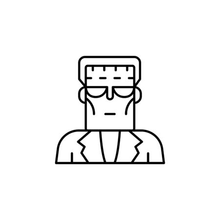 Frank enstein icon. Element of science illustration. Thin line illustration for website design and development, app development. Premium outline icon on white background