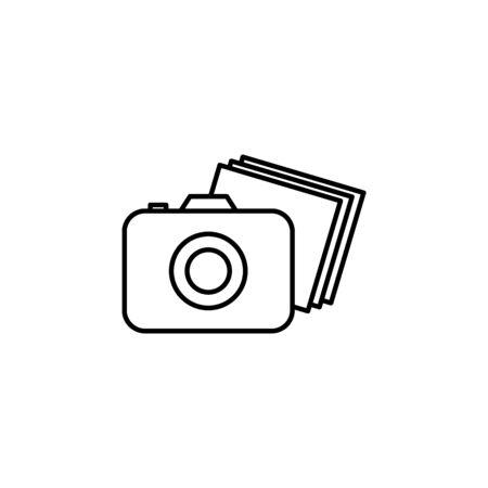 camera icon. Element of safari for mobile concept and web apps illustration. Thin line icon for website design and development, app development on white background Illusztráció