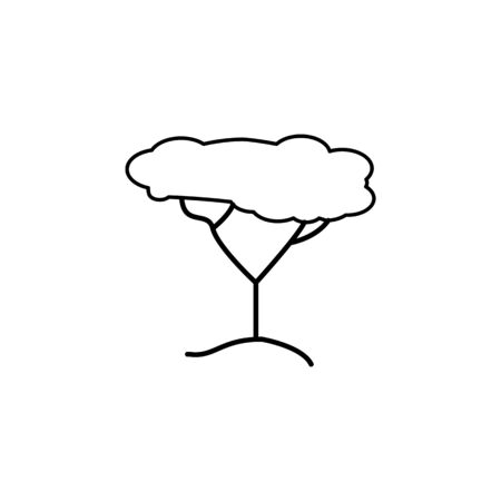 tree icon. Element of safari for mobile concept and web apps illustration. Thin line icon for website design and development, app development on white background
