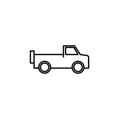 pickup icon. Element of safari for mobile concept and web apps illustration. Thin line icon for website design and development, app development on white background