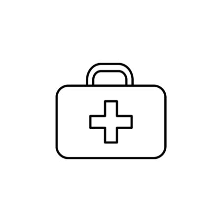 first aid kit icon. Element of safari for mobile concept and web apps illustration. Thin line icon for website design and development, app development on white background