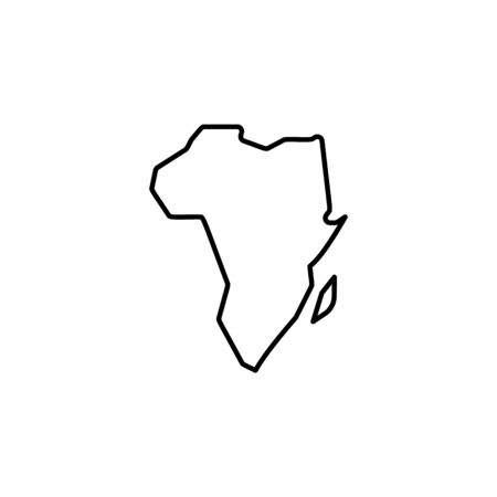map of Africa icon. Element of safari for mobile concept and web apps illustration. Thin line icon for website design and development, app development on white background Standard-Bild - 134479552