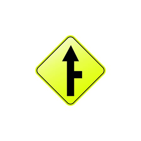 Road right icon. Element of road signs icon for mobile concept and web apps. Colored Road right icon can be used for web and mobile. Premium icon on white background Illusztráció