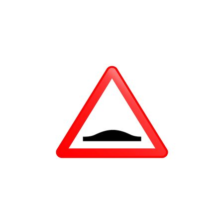 Hump ahead icon. Element of road signs icon for mobile concept and web apps. Colored Hump ahead icon can be used for web and mobile. Premium icon on white background Illusztráció