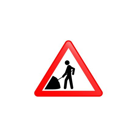 Road work icon. Element of road signs icon for mobile concept and web apps. Colored Road work icon can be used for web and mobile. Premium icon on white background