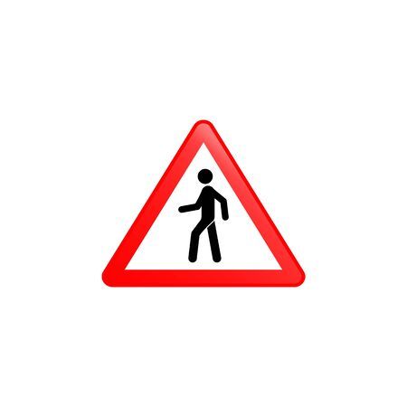 Pedestrian prohibitied icon. Element of road signs icon for mobile concept and web apps. Colored Pedestrian prohibitied icon can be used for web and mobile. Premium icon on white background Иллюстрация