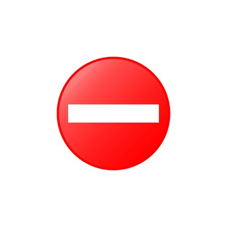 No entry icon. Element of road signs icon for mobile concept and web apps. Colored No entry icon can be used for web and mobile. Premium icon on white background