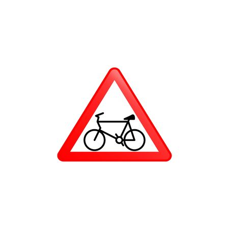 Cycle prohibitied icon. Element of road signs icon for mobile concept and web apps. Colored Cycle prohibitied icon can be used for web and mobile. Premium icon on white background Иллюстрация