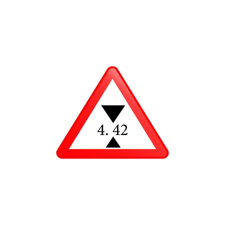 Height limit  icon. Element of road signs icon for mobile concept and web apps. Colored Height limit  icon can be used for web and mobile. Premium icon on white background