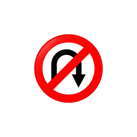 No U-turns icon. Element of road signs icon for mobile concept and web apps. Colored No U-turns icon can be used for web and mobile. Premium icon on white background