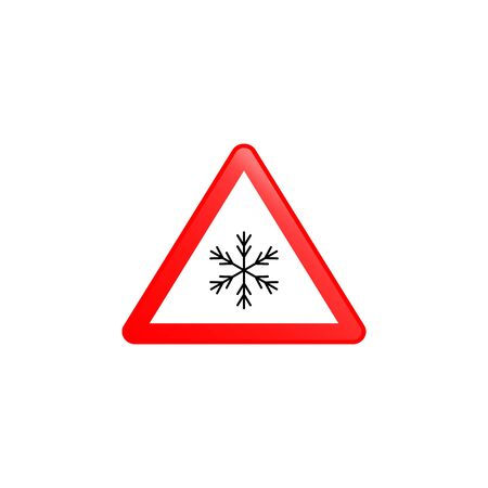 Snowly icon. Element of road signs icon for mobile concept and web apps. Colored Snowly icon can be used for web and mobile. Premium icon on white background Vektorgrafik