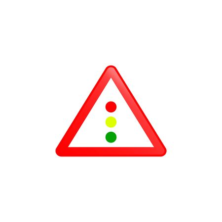 Trafic lightsz icon. Element of road signs icon for mobile concept and web apps. Colored Trafic lightsz icon can be used for web and mobile. Premium icon on white background Иллюстрация