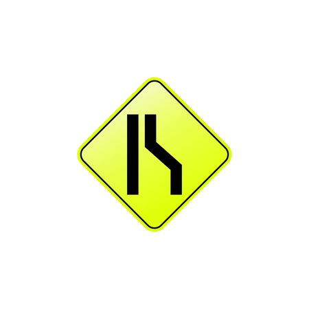 Road narrows on right icon. Element of road signs icon for mobile concept and web apps. Colored Road narrows on right icon can be used for web and mobile. Premium icon on white background