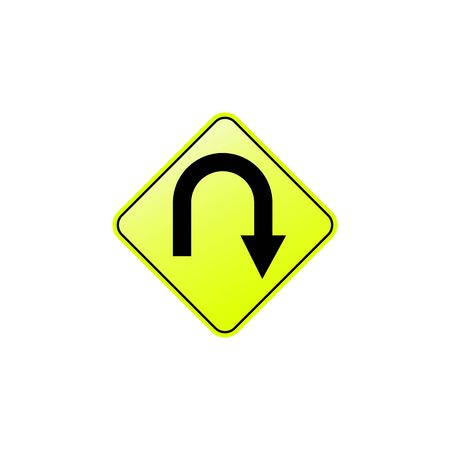 Right hair pin icon. Element of road signs icon for mobile concept and web apps. Colored Right hair pin icon can be used for web and mobile. Premium icon on white background