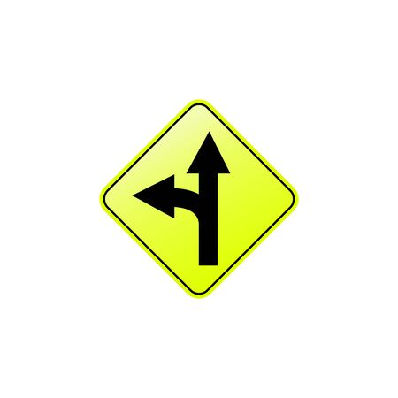 Road left icon. Element of road signs icon for mobile concept and web apps. Colored Road left icon can be used for web and mobile. Premium icon on white background Illusztráció