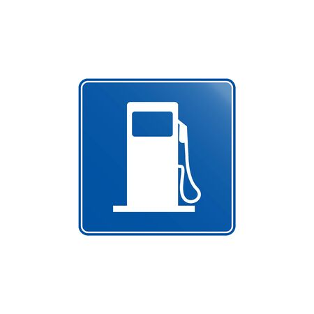 Gasoline  icon. Element of road signs icon for mobile concept and web apps. Colored Gasoline  icon can be used for web and mobile. Premium icon on white background Иллюстрация