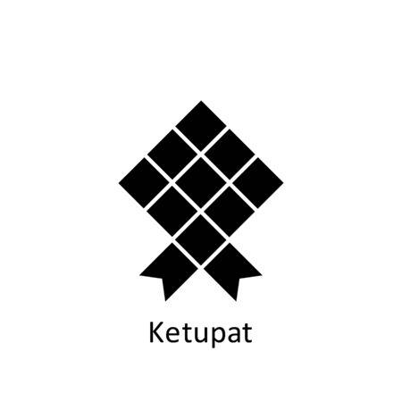 ramadan ketupat icon. Element of Ramadan illustration icon. Muslim, Islam signs and symbols can be used for web, logo, mobile app, UI, UX on white background