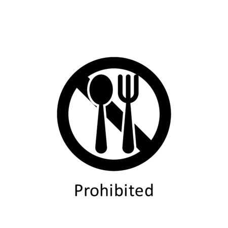 ramadan prohibited icon. Element of Ramadan illustration icon. Muslim, Islam signs and symbols can be used for web, logo, mobile app, UI, UX on white background