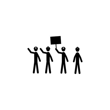 striking miners icon. Elements of protest and rallies icon. Premium quality graphic design. Signs and symbol collection icon for websites, web design, mobile app on white background