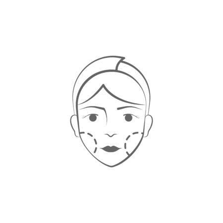 plastic surgery hand draw icon. Elements of face and body lifting illustration icon. Signs and symbols can be used for web, logo, mobile app, UI, UX on white background on white background