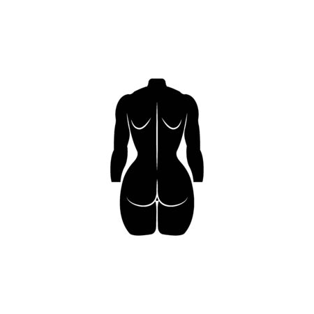 Female Buttocks icon. Element of body parts icon. Premium quality graphic design icon. Signs and symbols collection icon for websites, web design, mobile app on white background