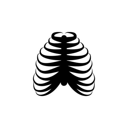 rib bones icon. Element of body parts icon. Premium quality graphic design icon. Signs and symbols collection icon for websites, web design, mobile app on white background 向量圖像