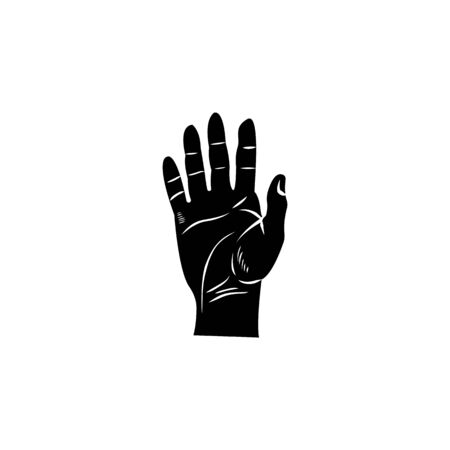human hand icon. Element of body parts icon. Premium quality graphic design icon. Signs and symbols collection icon for websites, web design, mobile app on white background