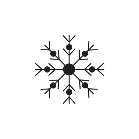snowflake vector icon on white background