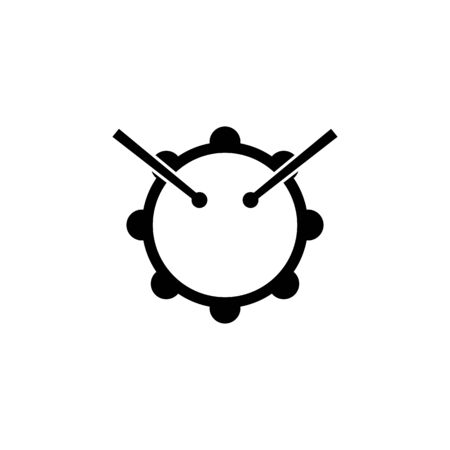 drum and sticks icon. Element of music icon. Premium quality graphic design icon. Signs and symbols collection icon for websites, web design, mobile app on white background