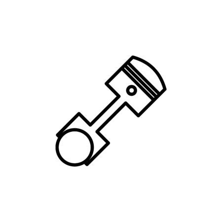 piston icon. Element of motorbike for mobile concept and web apps illustration. Thin line icon for website design and development, app development. Premium icon on white background