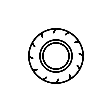 motorcycle tire icon. Element of motorbike for mobile concept and web apps illustration. Thin line icon for website design and development, app development. Premium icon on white background Ilustração