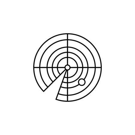 Radar line Icon on white background