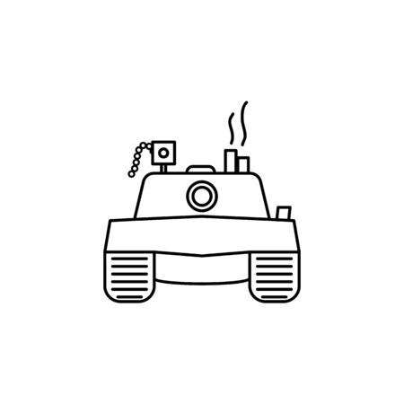 Vector tank Icon on white background