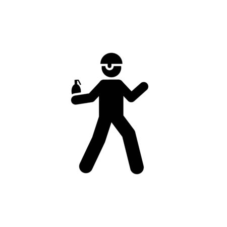 The bomb, soldier, helmet, military pictogram icon on white background