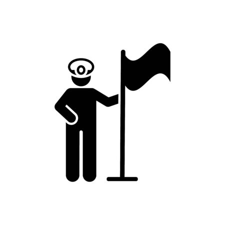Soldier, professions, man, helmet pictogram icon on white background